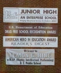 Poor use of commas on school sign